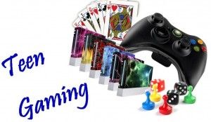 teen gaming clip art