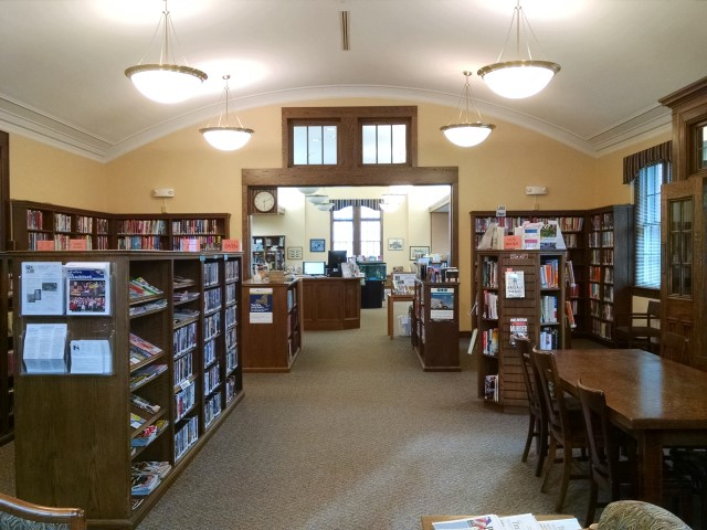 inside the library