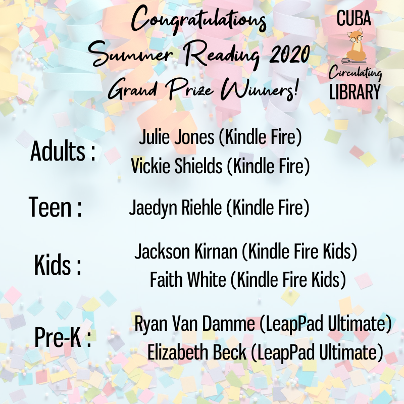 Congratulations to Our Grand Prize Winners!