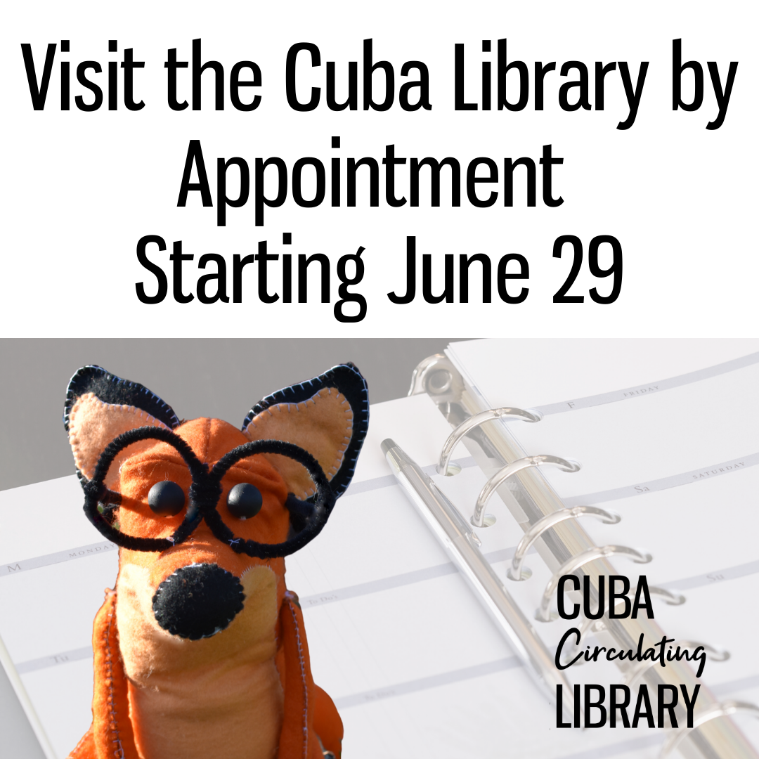 Visit the Library By Appointment Starting June 29.