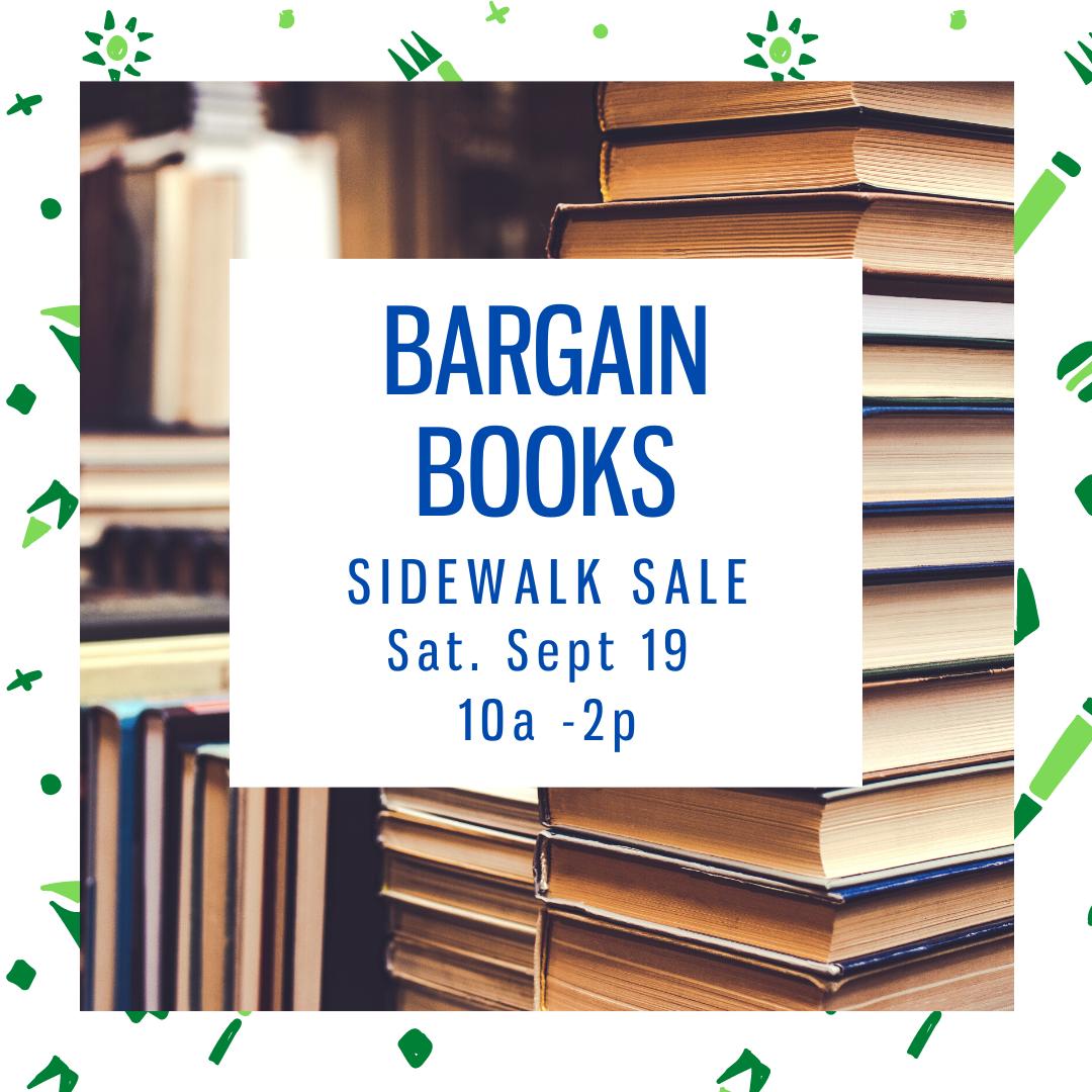 Bargain Books Sidewalk Sale