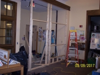 Library Entrance Renovation March 2017