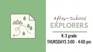 after school explorers infographic with map