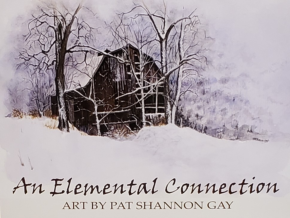 winter barn scene art by Pat Shannon Gay