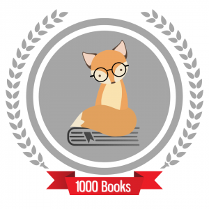 Finnegan Fox logo with 1000 books banner