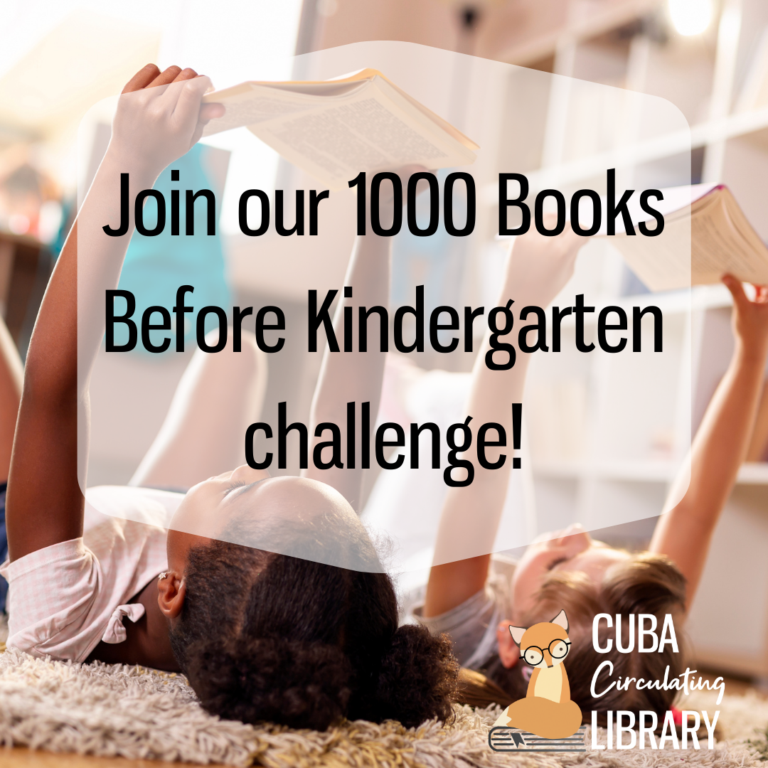 Join our 1000 Books Before Kindergarten Challenge!