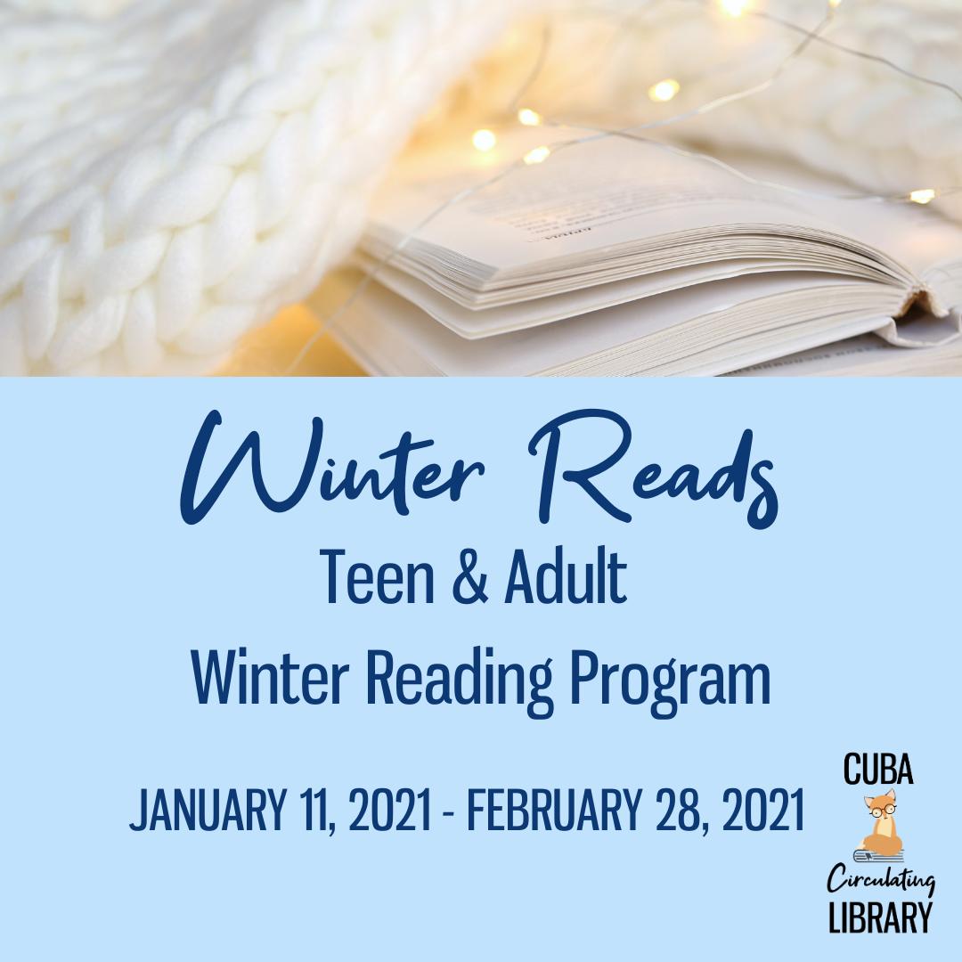 Winter Reads Teen & Adult  Winter Reading Program