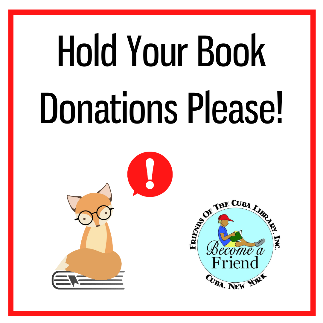 Hold Book Donations
