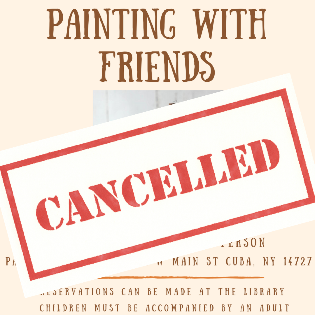 Painting with Friends Cancelled